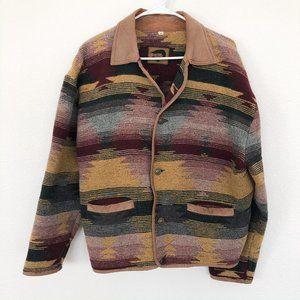 Vintage Foxrun Southwest Print Blanket Jacket